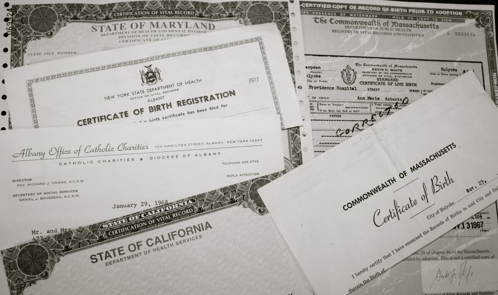 adoption original ammended birth certificates